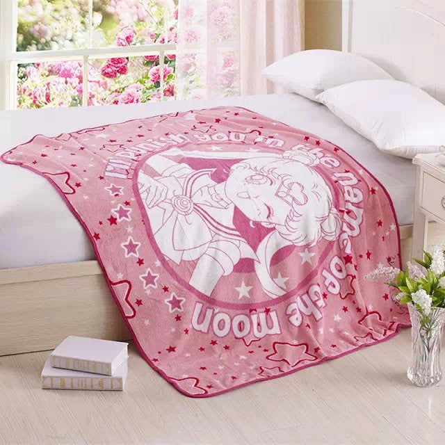 Sailor Moon Soft Coral Fleece Bedding Blanket Accessories - Sailor Moon Gifts - TeeAmazing