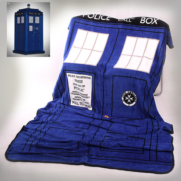 Tardis Coral Fleece Bedding Blanket Accessories - Doctor Who Gifts - TeeAmazing - 1