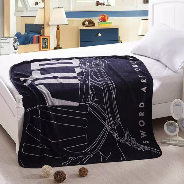 Sword Art Online Soft Coral Fleece Bedding Blanket Accessories - Sword Art Online Gifts - TeeAmazing