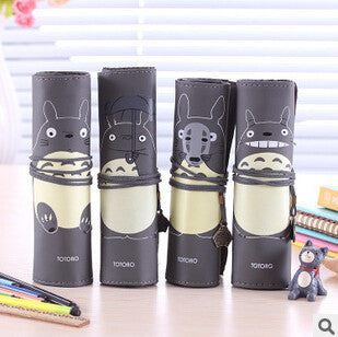 Totoro PU Leather Roll Pencil Case Accessories Gifts - TeeAmazing - 1