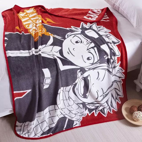 Fairy Tail Soft Coral Fleece Bedding Blanket Accessories - Fairy Tail Gifts - TeeAmazing
