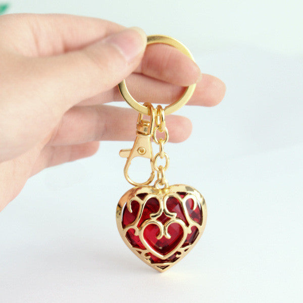The Legend of Zelda Heart Necklace and Key Ring Necklaces & Pendants - Zelda Necklaces - TeeAmazing