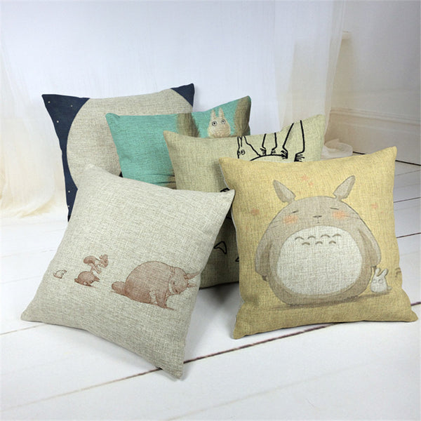 V.2 Totoro Pillow Cover Accessories - Totoro Gifts - TeeAmazing - 1
