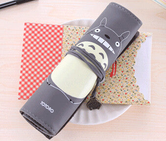 Totoro PU Leather Roll Pencil Case Accessories Gifts - TeeAmazing - 5