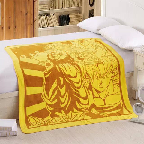 Goku Soft Coral Fleece Bedding Blanket Accessories - Dragon Ball Gifts - TeeAmazing