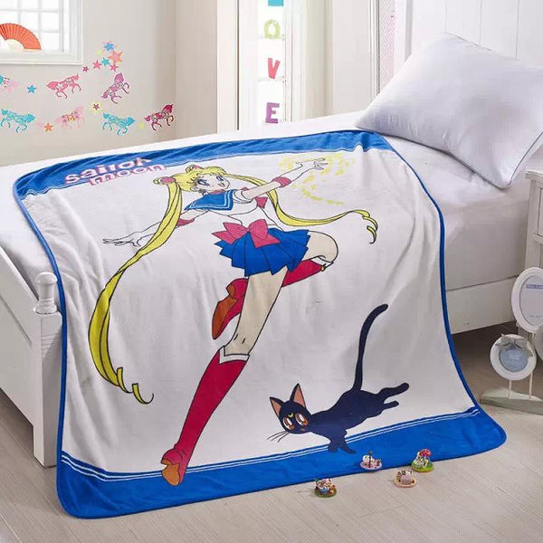 Sailor Moon Soft Coral Fleece Bedding Blanket Accessories - Sailor Moon Gifts - TeeAmazing - 1