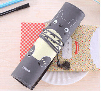 Totoro PU Leather Roll Pencil Case Accessories Gifts - TeeAmazing - 2