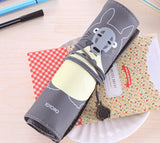 Totoro PU Leather Roll Pencil Case Accessories Gifts - TeeAmazing
