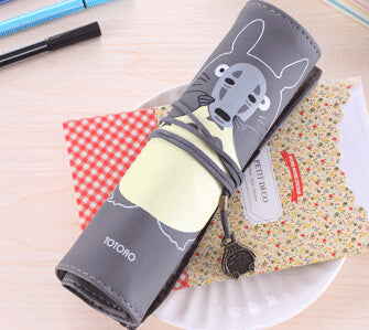 Totoro PU Leather Roll Pencil Case Accessories Gifts - TeeAmazing - 6