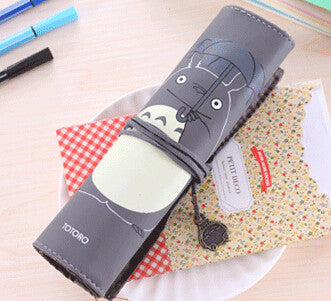 Totoro PU Leather Roll Pencil Case Accessories Gifts - TeeAmazing - 4