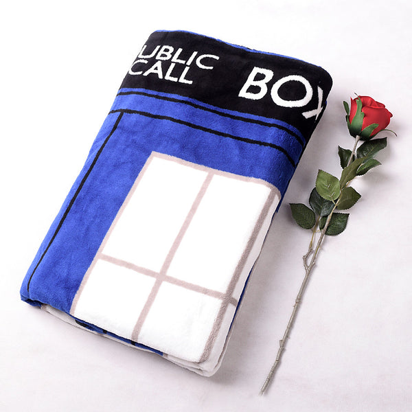 Tardis Coral Fleece Bedding Blanket Accessories - Doctor Who Gifts - TeeAmazing - 2