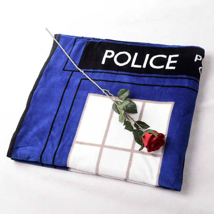 Tardis Coral Fleece Bedding Blanket Accessories - Doctor Who Gifts - TeeAmazing