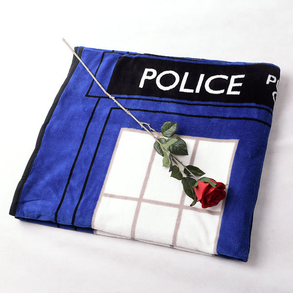 Tardis Coral Fleece Bedding Blanket Accessories - Doctor Who Gifts - TeeAmazing - 5