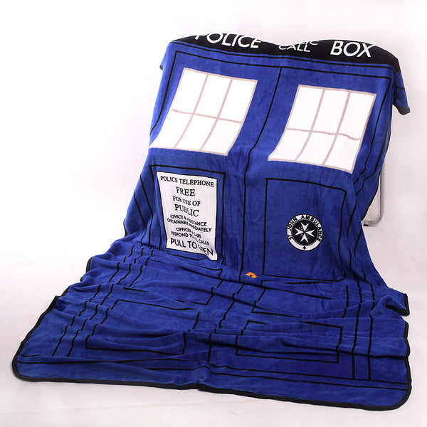 Tardis Coral Fleece Bedding Blanket Accessories - Doctor Who Gifts - TeeAmazing - 3