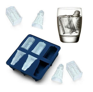 Doctor Who Tardis and Daleks Shape Silicone Ice Cube Tray Accessories - Doctor Who Gifts - TeeAmazing