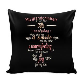 My Grandchildren Give Me Gifts Pillow Cover - Grandma Accessories - TeeAmazing