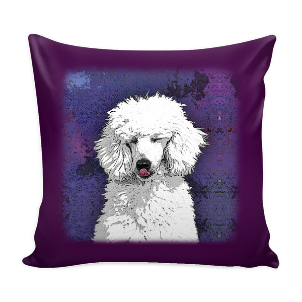 Painting Poodle Dog Pillow Cover - Poodle Accessories - TeeAmazing - 1