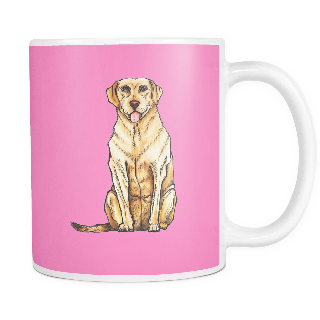 Drawing Labrador Retriever Dog Mugs & Coffee Cups - Labrador Retriever Coffee Mugs - TeeAmazing
