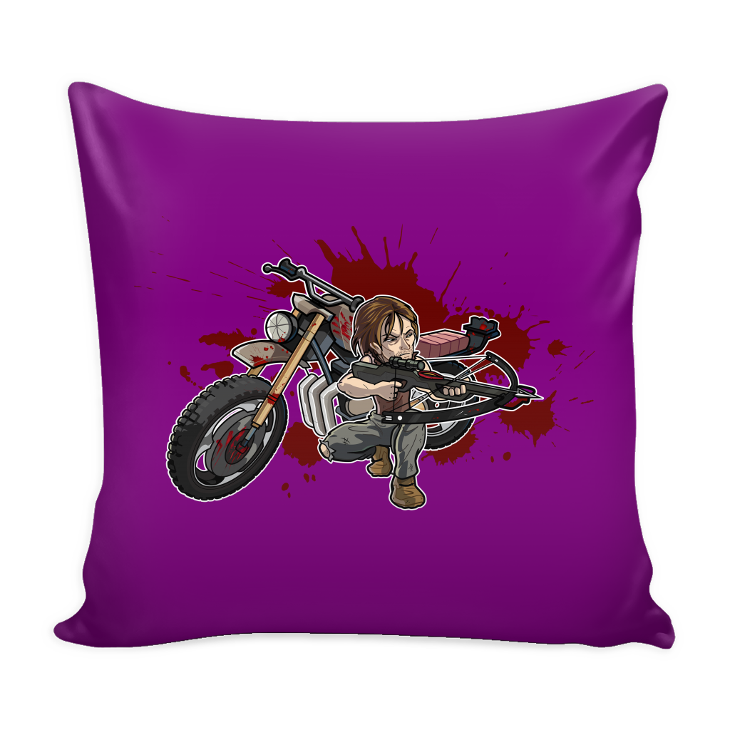 Daryl Toons Pillow Cover - Walking Dead Accessories - TeeAmazing