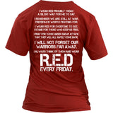 Wear Red For Veterans T-Shirt - Veterans Shirt - TeeAmazing