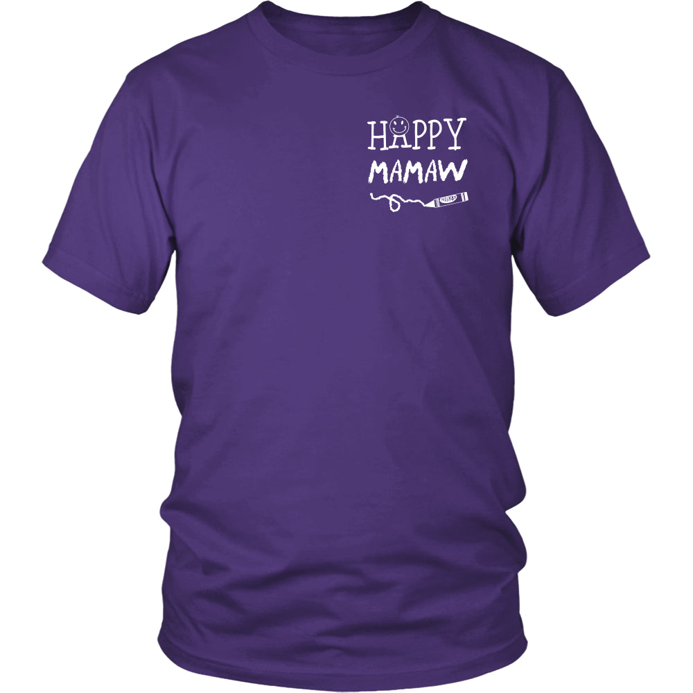 Happiness is Being Mamaw T-Shirt - Mamaw Shirt - TeeAmazing