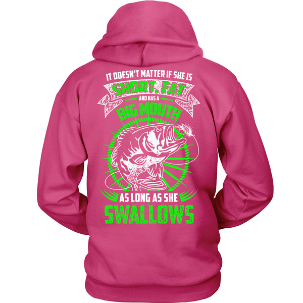 As Long As She Swallows Fishing T-Shirt - Fishing Shirt - TeeAmazing - 8