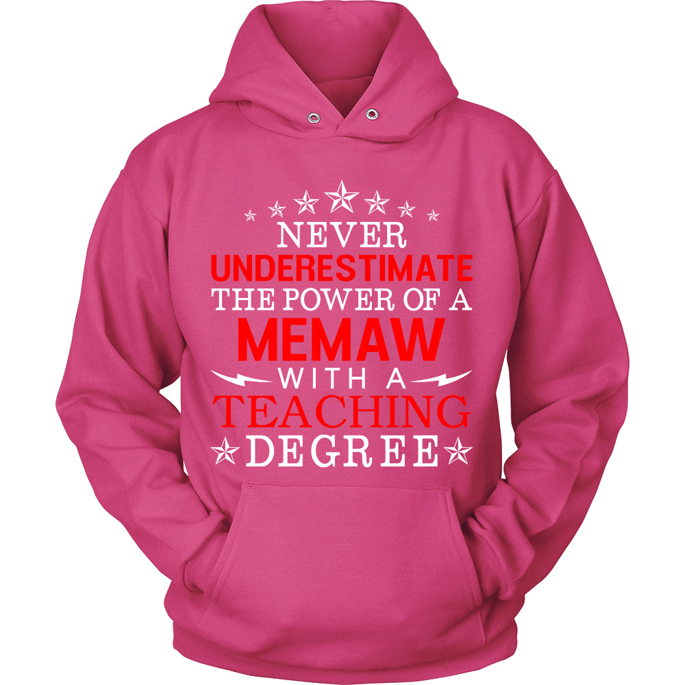 Never Underestimate Memaw Teaching T-Shirt - Memaw Shirt - TeeAmazing
