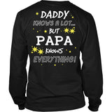 PAPA Knows Everything T-Shirt -  PAPA Shirt - TeeAmazing