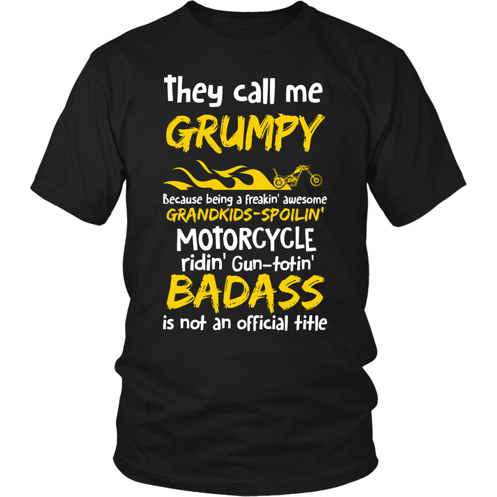 Grumpy Biker With My Motorcycle T-Shirt - Grumpy Motorcycle Shirt DT6000