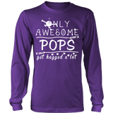 Only Awesome Pops Get Hugged A Lot T Shirts, Tees & Hoodies - Grandpa Shirts - TeeAmazing
