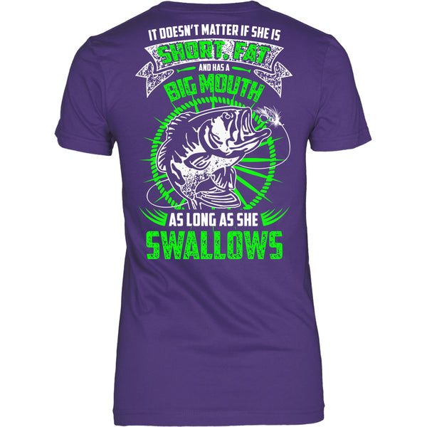 As Long As She Swallows Fishing T-Shirt - Fishing Shirt - TeeAmazing - 10