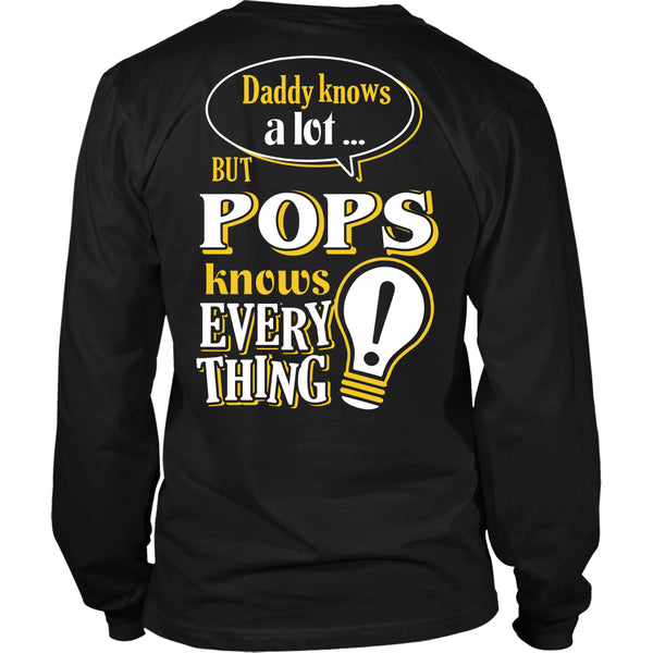 Pops Knows More T-Shirt -  Pops Shirt - TeeAmazing - 14