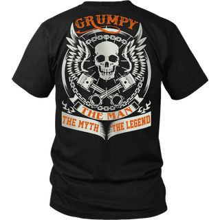 Grumpy The Man The Myth The Legend T Shirts, Tees & Hoodies - Grandpa Shirts - TeeAmazing