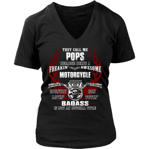 Badass Pops Motorcycle T-Shirt - Pops Motorcycle Shirt - TeeAmazing - 13