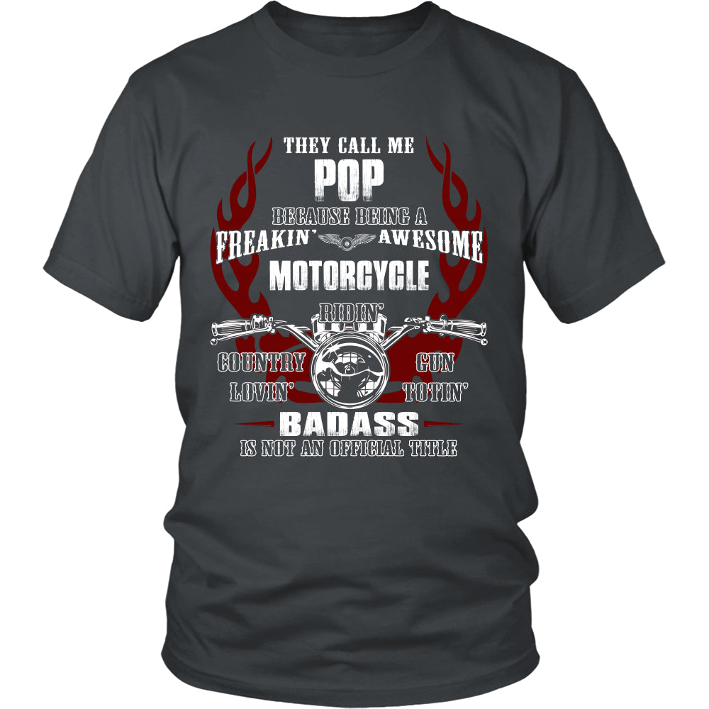 Badass Pop Motorcycle T-Shirt - Pop Motorcycle Shirt - TeeAmazing