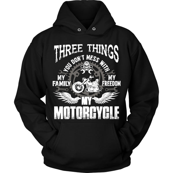 Three Things...My Motorcycle T-Shirt - Motorcycle Shirt - TeeAmazing - 1