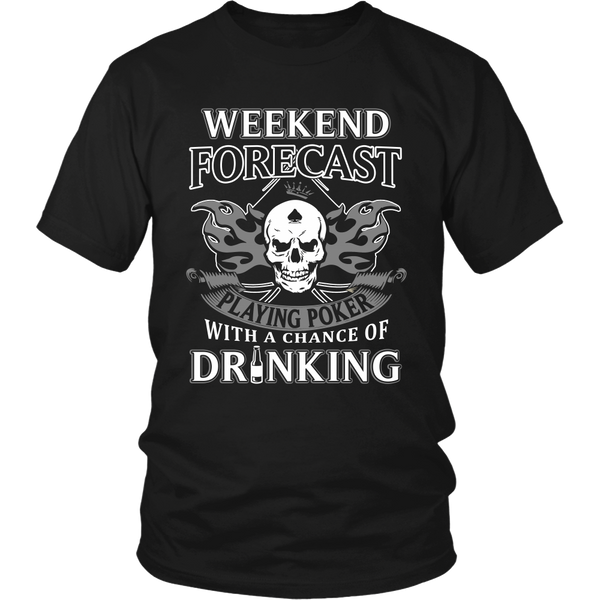 Playing Poker with Drinking T Shirts, Tees & Hoodies - Poker Shirts - TeeAmazing - 1