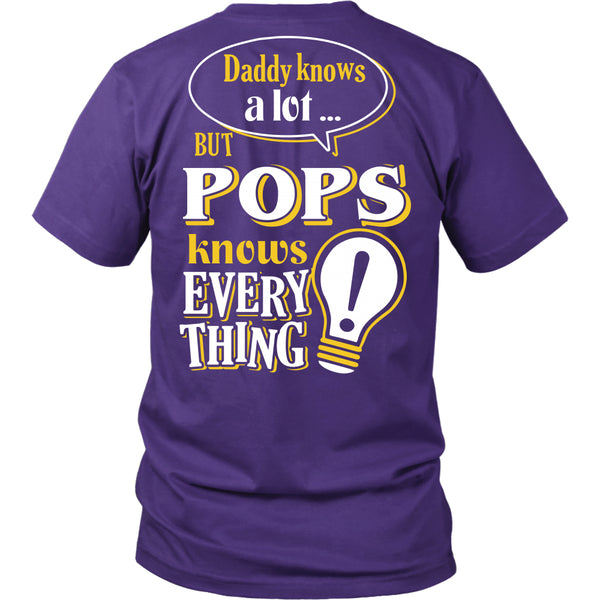 Pops Knows More T-Shirt -  Pops Shirt - TeeAmazing - 4