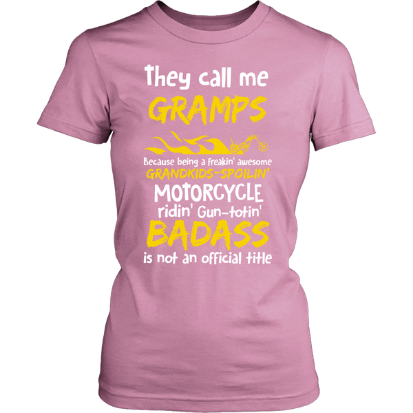 They Call Me Gramps Motorcycle T-Shirt - Gramps Motorcycle Shirt - TeeAmazing - 11