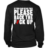 Back The Fvck Up Motorcycle T-Shirt - Motorcycle Shirt - TeeAmazing
