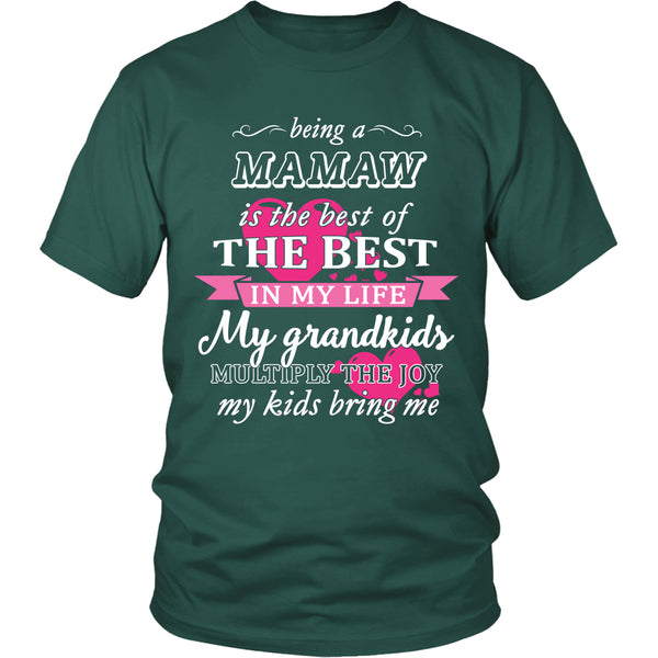 Being a Mamaw Is The Best T-Shirt - Mamaw Shirt - TeeAmazing - 3