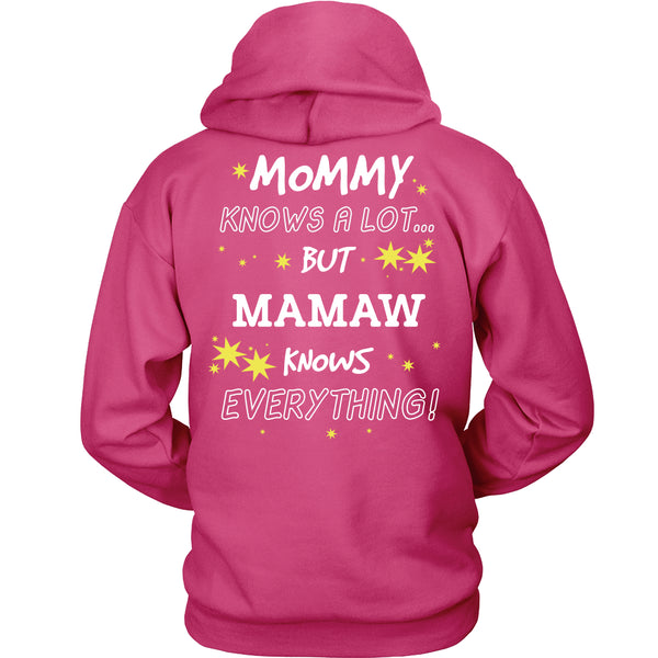 Mamaw Knows Everything T-Shirt -  Mamaw Shirt - TeeAmazing - 16