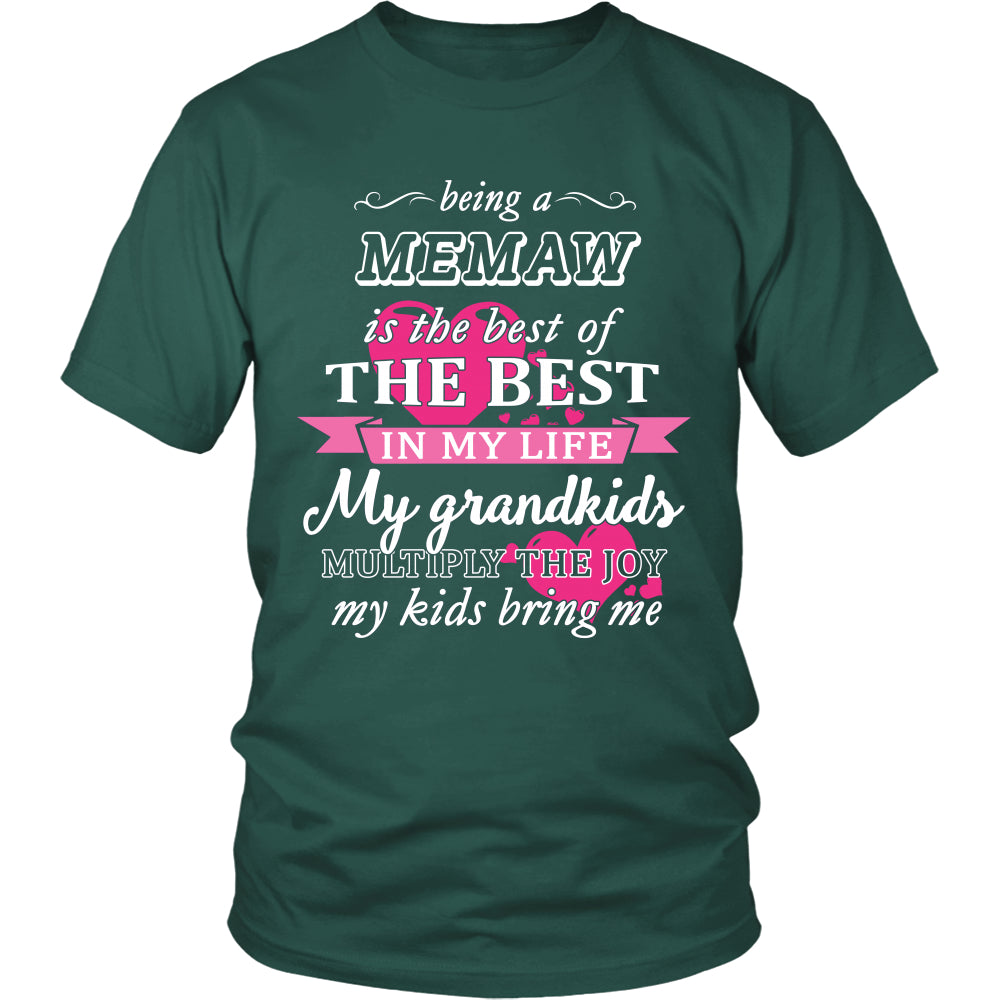 Being a Memaw Is The Best T-Shirt - Memaw Shirt - TeeAmazing
