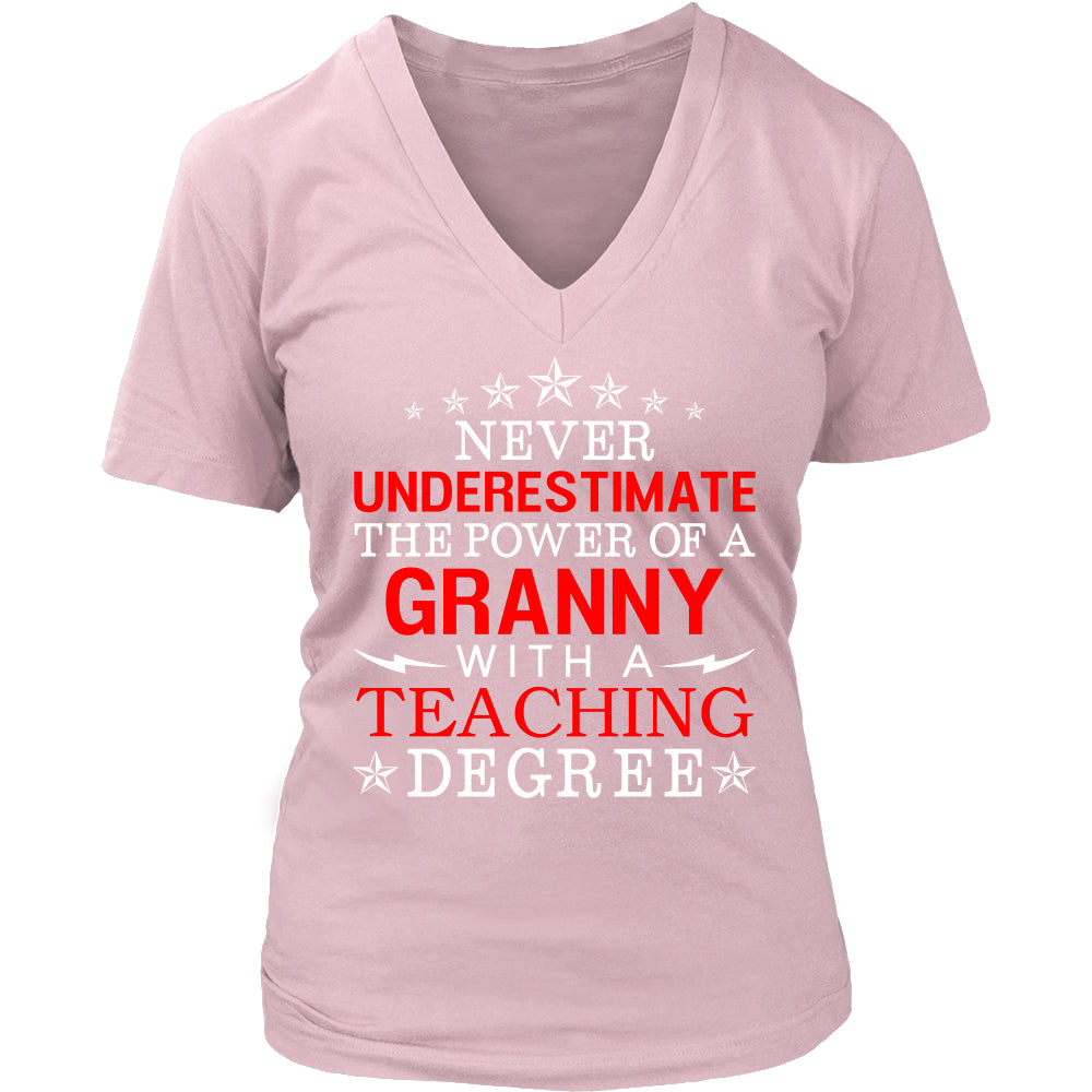 Never Underestimate Granny Teaching T-Shirt - Granny Shirt - TeeAmazing