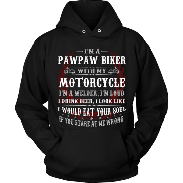 Pawpaw Biker With My Motorcycle T-Shirt - Pawpaw Motorcycle Shirt - TeeAmazing - 1
