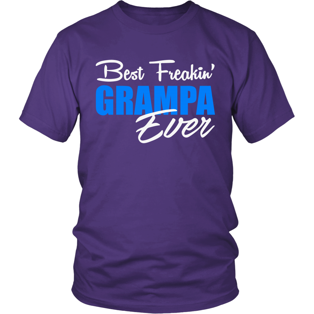 Best Freakin' Grampa Ever T Shirts, Tees & Hoodies - Grandpa Shirts - TeeAmazing