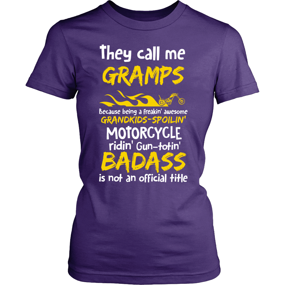 They Call Me Gramps Motorcycle T-Shirt - Gramps Motorcycle Shirt - TeeAmazing