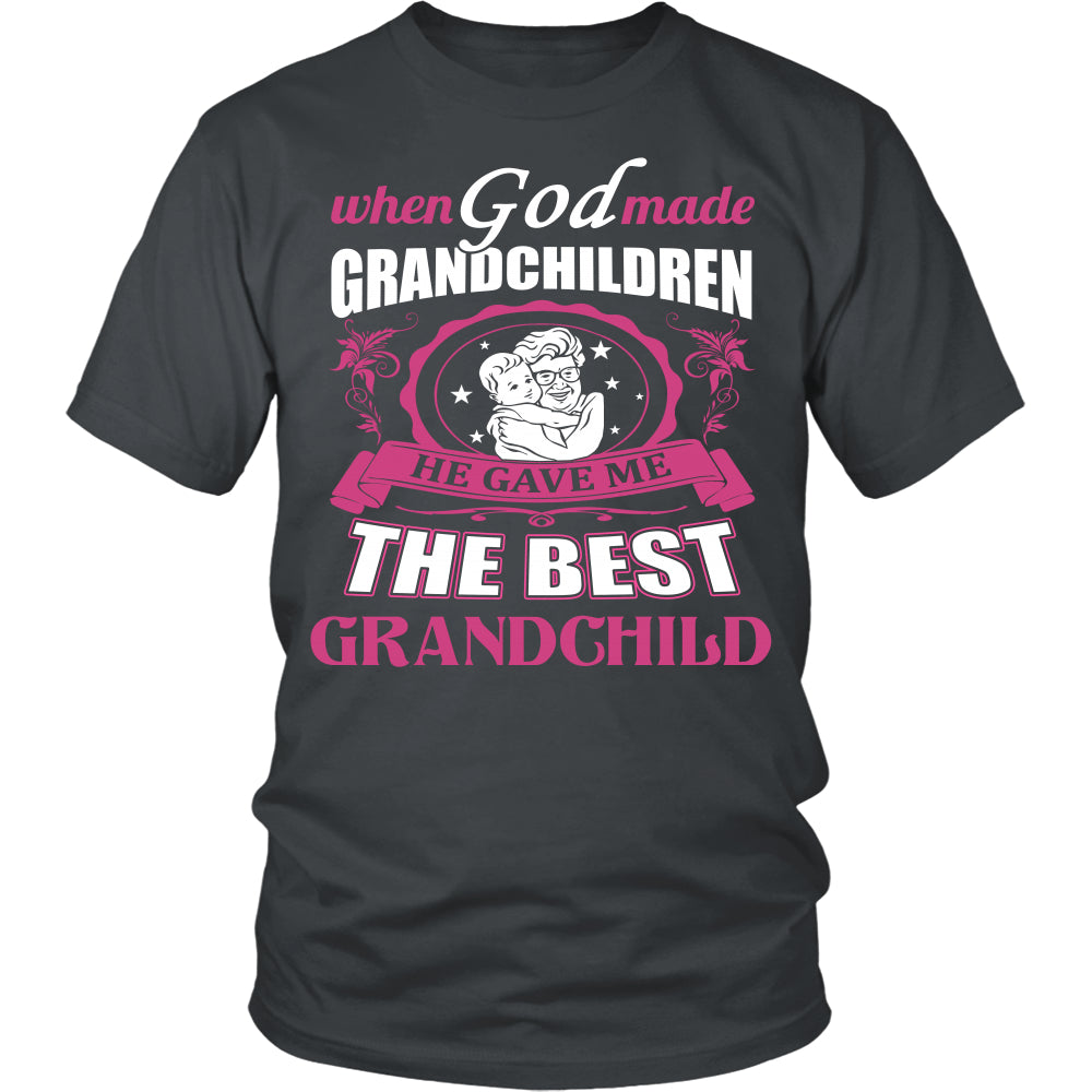 God Gave Me The Best Grandchild T-Shirt - Grandma Shirt - TeeAmazing