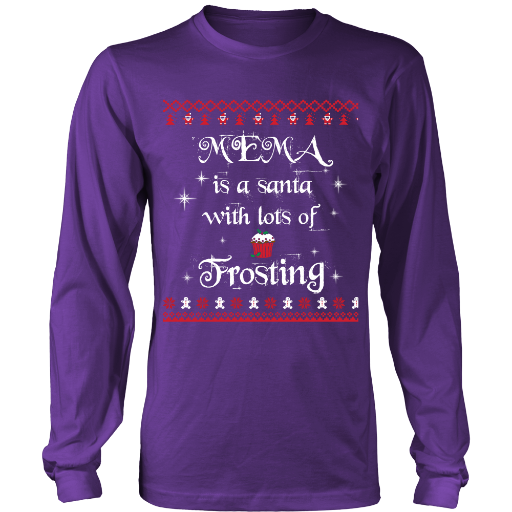 Mema is a Santa... T-Shirt - Mema Shirt - TeeAmazing