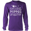 Only Awesome Poppas Get Hugged A Lot T Shirts, Tees & Hoodies - Grandpa Shirts - TeeAmazing - 11